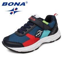 BONA – chaussures en maille pour enfants, mocassins à crochet et boucle pour filles et garçons, baskets d'extérieur à la mode, livraison gratuite