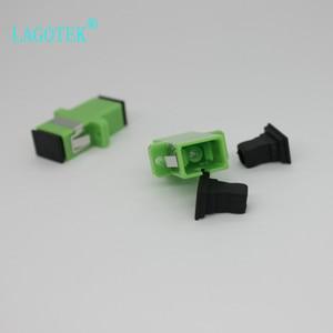 Image 4 - 500PCS/LOT SC APC Simplex single mode Fiber optic Adapter SC Optical fiber coupler SC APC Fiber flange SC connector
