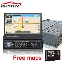 Lexxson 12V Retractable Car Stereo Bluetooth FM Radio MP5 Audio Player Phone USB/TF Radio In Dash 1 DIN 7 inch 5 languages menu