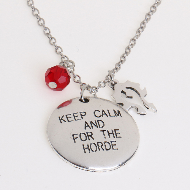 2016 Keep Calm And For The Hordehand Stamped Necklaceworld Of