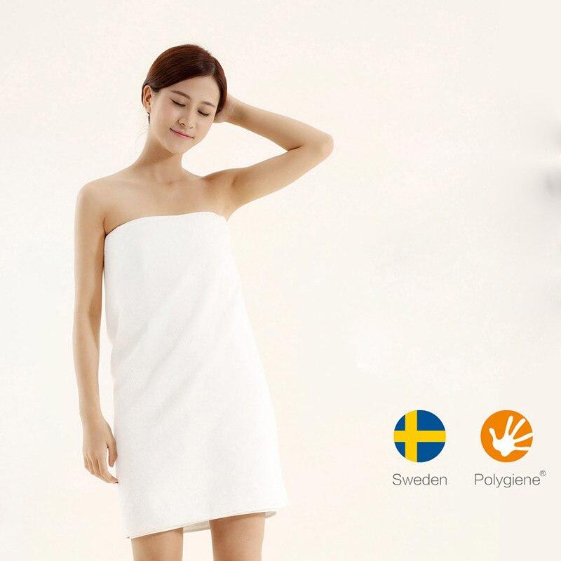 Original Xiaomi ZSH Bath Towel 100% Cotton Strong Water Absorption Polyegiene Antibacterial Baby's Bathing Towels free ship цена и фото
