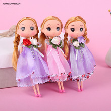 HANDANWEIRAN 1Pcs Plastic New Style Hot Kawaii Dolls Fashion Cartoon Pretty Girl Doll Children Toys Pendant Creative Gift
