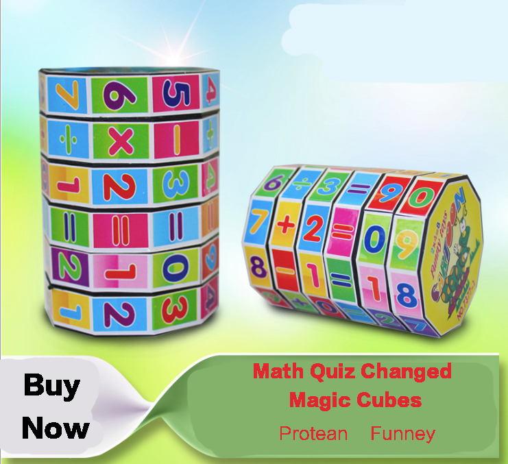 Free Shipping Mathematics Magic Cubes Early Childhood Learning Digital Children s Educational Toys Gift