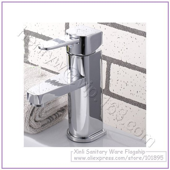 L16318 - Luxury Deck Mounted Chrome Color Hot & Cold Brass Basin Tap