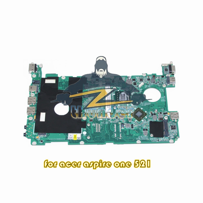MBSBT06004 DA0ZH9MB6D0 REV D for acer aspire one 521 laptop motherboard AMK125 CPU DDR3 eg70 eg70bz rev 2 0 for gateway ne71b ne71b06u laptop motherboard e2 1800 cpu ddr3