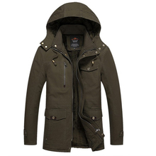 Winter Jacket Men Casual Cotton Thick Warm Coat Men's Outwear Parka Plus size 4XL Coats Windbreak Snow Military Jackets