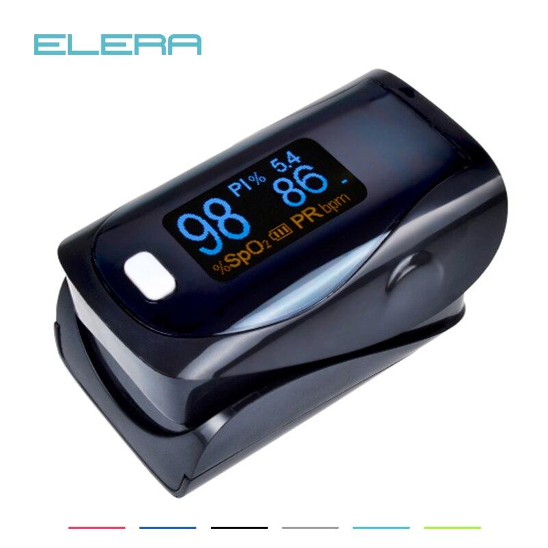 ELERA Allarmante Digitale dito ossimetro FDA del CE pulsossimetro un dito, pulsioximetro SPO2 PR oximetro de dedo P & P