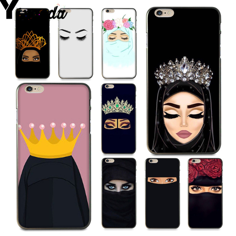 Yinuoda For iphone 7 6 X Case Oriental Woman In Hijab Face Muslim Islamic Gril Eyes Phone Case for iPhone 6S 7 8Plus 5SXR XSMAX iphone