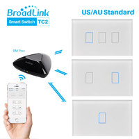 Broadlink TC2 AU US Standard Touch Switch Panel 110 150V Smart Home Automation RF Wireless Connection RM Pro Via APP Control