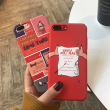 Matte hard cover phone case For iphone X XS 6 6S plus 7 7plus 8 8plus Happy new year Good luck illustration phone Fundas Coque кеды happy luck happy luck ha017awjbe15
