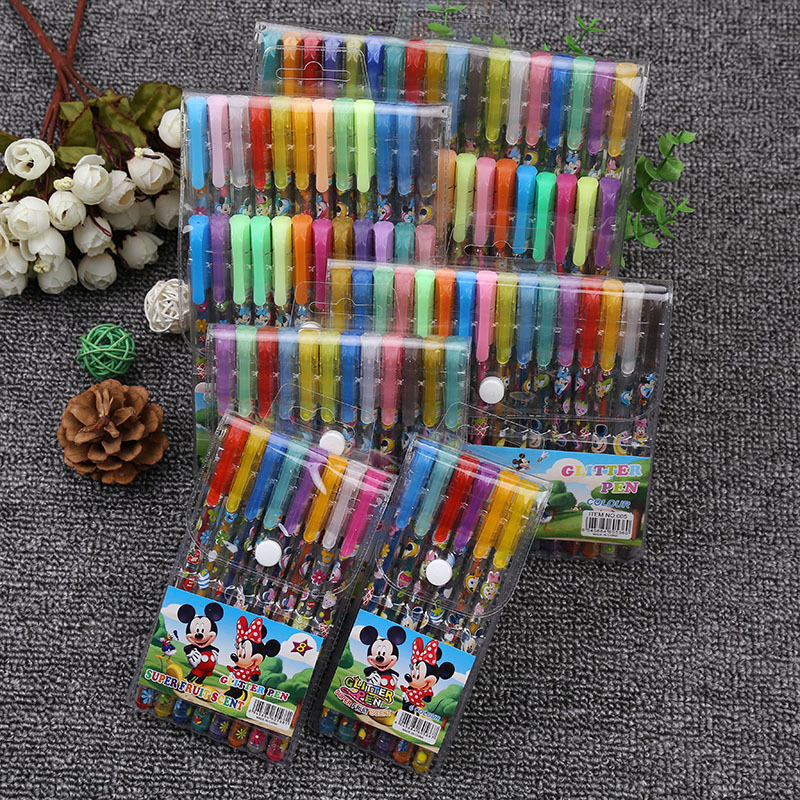 36 Color Cartoon Graffiti Highlighter Gel Pen Multicolor
