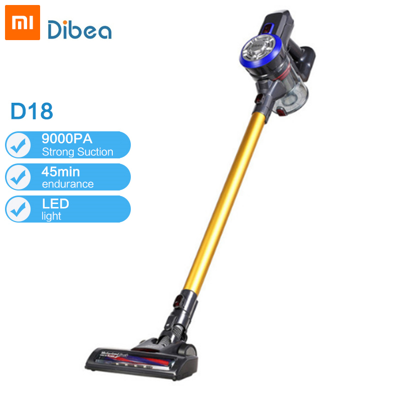 2019 Dibea D18 Protable 2 In 1 Handheld Wireless Vacuum Cleaner Cyclone Filter 8500 Pa Strong