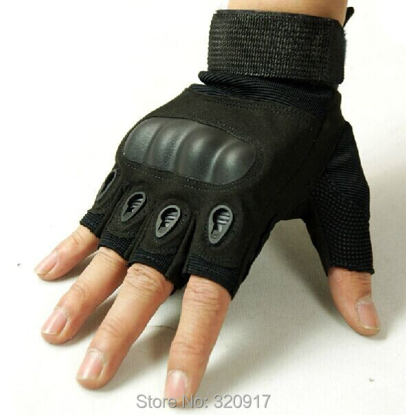 oakley tactical gloves review hckc  Military Tactical Gloves Half finger Carbon knuckle Leather Gloves 3 Color  Turtle shell Army police Mountain