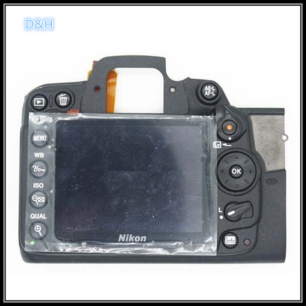 Original Back Rear cover case shell Assy For Nikon D7000 With LCD,Button Camera Repairment Parts d7000 rear back cover shell with lcd button fpc for nikon d7000 for nikon