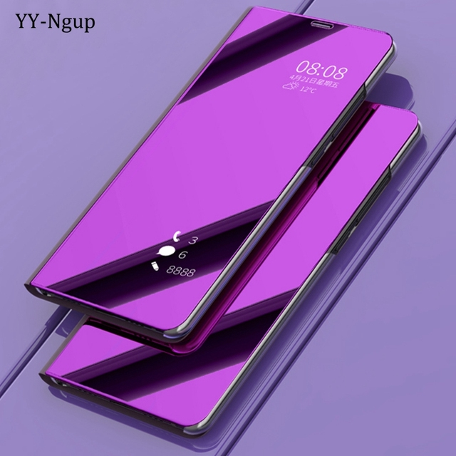 timeless design 51533 b0d2f US $7.89 |Coque for Samsung Galaxy A6 2018 Luxury Flip Mirror Phone Case on  for Samsung A6 Plus A6Plus 2018 Stand Holder Case Cover Etui-in Flip Cases  ...