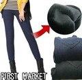 Free Shipping Winter Thicken Velvet Fleecews Leggings For Women Warm Pants Imitate Jeans Denim Legging L/XL/XXL/xxxl Black/Blue