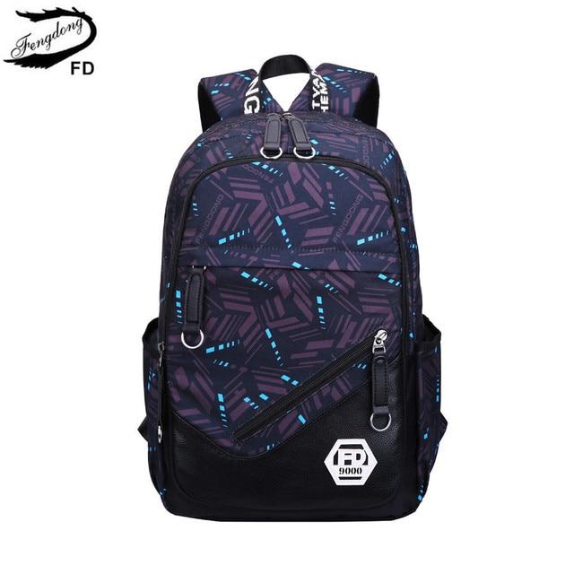 FengDong kids school backpack boy bag man woman back pack male laptop  backpack men travel bags boys school bags laptop bag 15.6 55ed0a1fc2b94