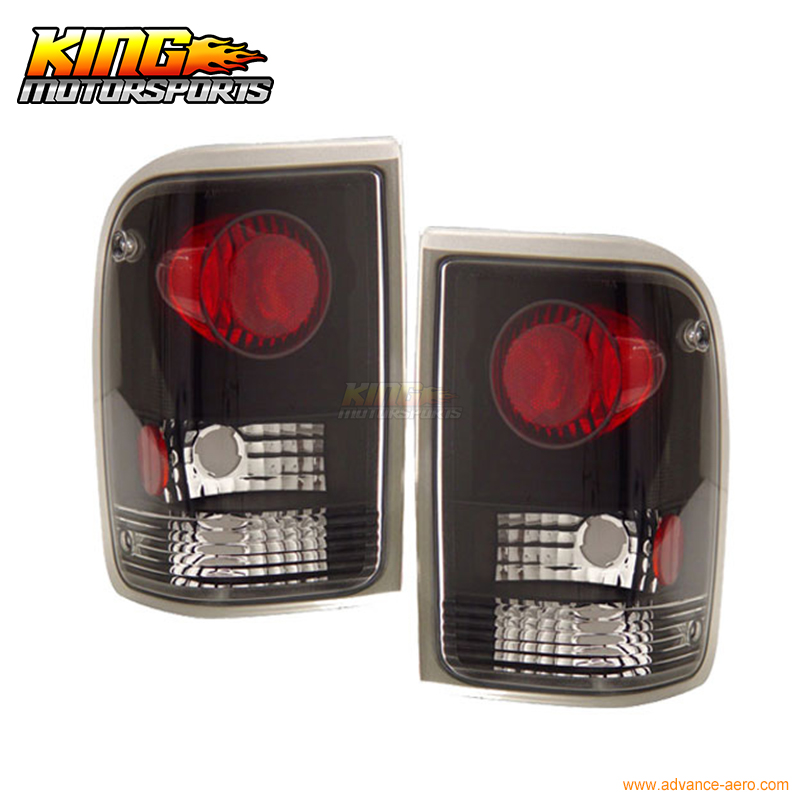For 93 97 Ford Ranger Tail Lights Black 1994 1995 1996 USA Domestic Free Shipping|us light|light black|light for - title=