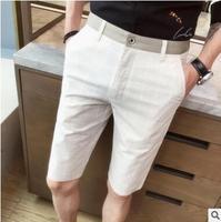 Men's short pants Korean version of trend men straight five minute pants joker Korean version of the slim XZ36