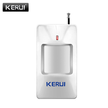 Sensor de movimiento PIR inalámbrico KERUI, sensores de alarma de 433Mhz para GSM/PSTN, sistema de alarma de seguridad para el hogar
