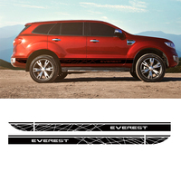 customize for ford everest 2015 SUV car accessories modified stickers 2 PC Gradient side stripe graphic Vinyls scratch stickers