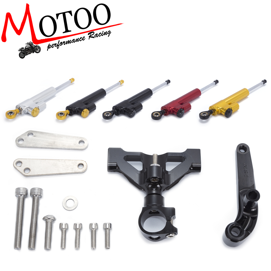 Motoo -FREE SHIPPING For Kawasaki ZZR1400 ZX-14R ZX14R 2006-15 Motorcycle Aluminium Steering Stabilizer Damper Mounting Bracket adjustable long folding clutch brake levers for kawasaki zx1400 zx14r zx 1400 11 12 13 14 15 zzr1400 zzr 1400 zx 14r 2014 2015