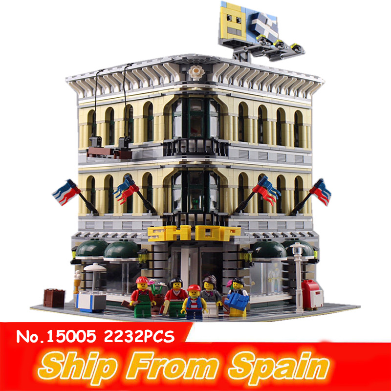 ship from Spain 15005 2232pcs city grand model building blocks educational bricks Compatible 10211 Classic Model