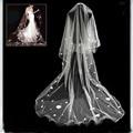 Bridal Veils Pencil Edge One-Layer Applique 3M*1.5M Cathedral Wedding Veil Wedding Veil  Wedding Accessories Long Veil WYQ-169
