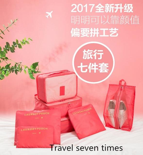 Turísticas viagem recebem saco da bagagem saco de roupas classificação sacos de roupas sapatos e roupas íntimas para receber pacote terno