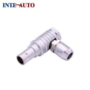 Metal elbow 90 degree plug,circular Metal male connector, 2B series M15 size, FTHG.2B.310,10 pins
