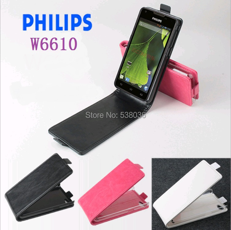 Philips Xenium W6610 phone flip Leather case Cover Back New style Item w6610 Good Quality fashion - Android mobile accessories store