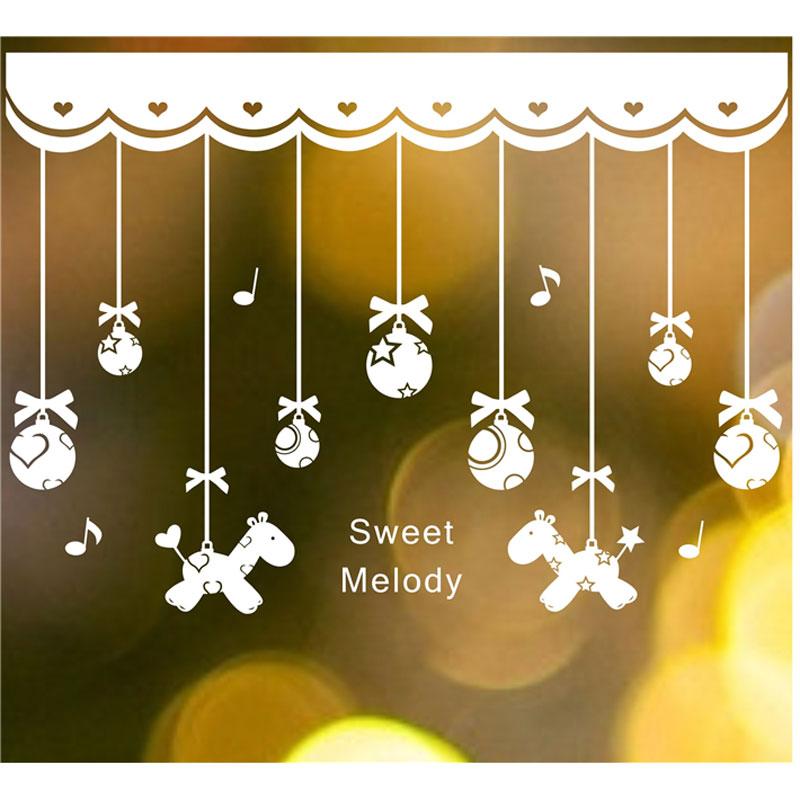 Navidad bolas de cristal colgante cadena de navidad a o for Decoraciones de navidad para el hogar