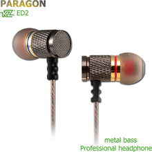 Paragon KZ ED2 earphones Go pro Accessories Pk ie800 for mp3 music In ear mini earphone fone de ouvido for xiaomi phone Earphone