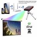 Mini Proyector dlp vídeo E06 Hd1080p 854*480 HDMI/AV/USB/TF de audio de cine en casa led pico proyector de entretenimiento portátil