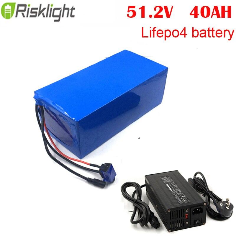 Paquet profond de batterie du cycle lifepo4 48 V de 51.2 V 40Ah pour la moto, le vélo électrique et la voiture de golf