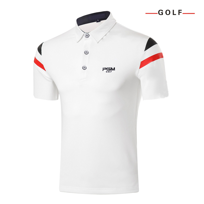 2017 new men golf shirts summer golf training garment sports striped shirts short sleeve polo tops outdoor golf wear brand ...