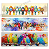 Colorful Birds Drill Mosaic 5D Diy Embroidery Diamond Painting Rhinestone Parrot 3D Cross Stitch Kits Animal