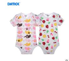 2016 2pcs/lot New Newborn Baby Boy Spring Clothing Sets 100% Cotton Infants Jumpsuit Cute Animal Printed Baby Girls Clothes