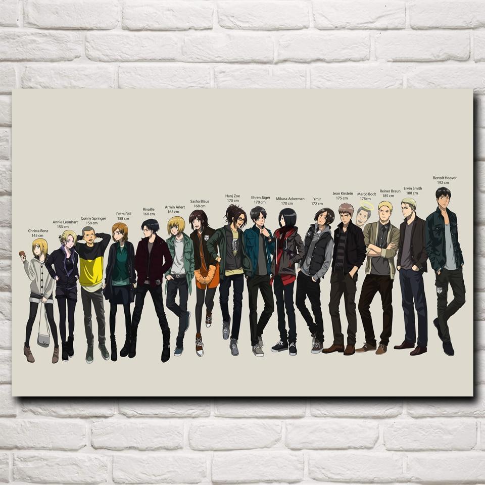Shingeki no Kyojin Anime Art Silk Poster Prints Home Wall Decor ...