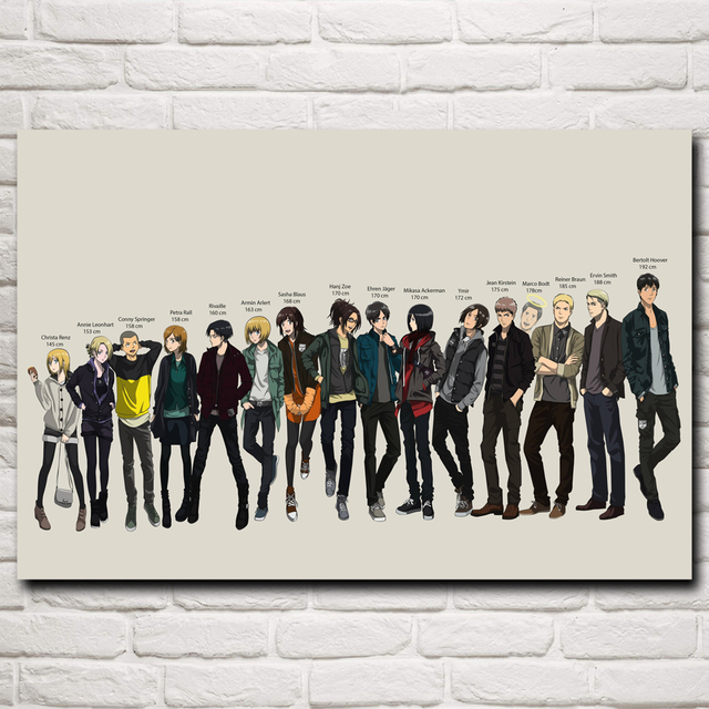 shingeki no kyojin anime art silk poster prints home wall decor