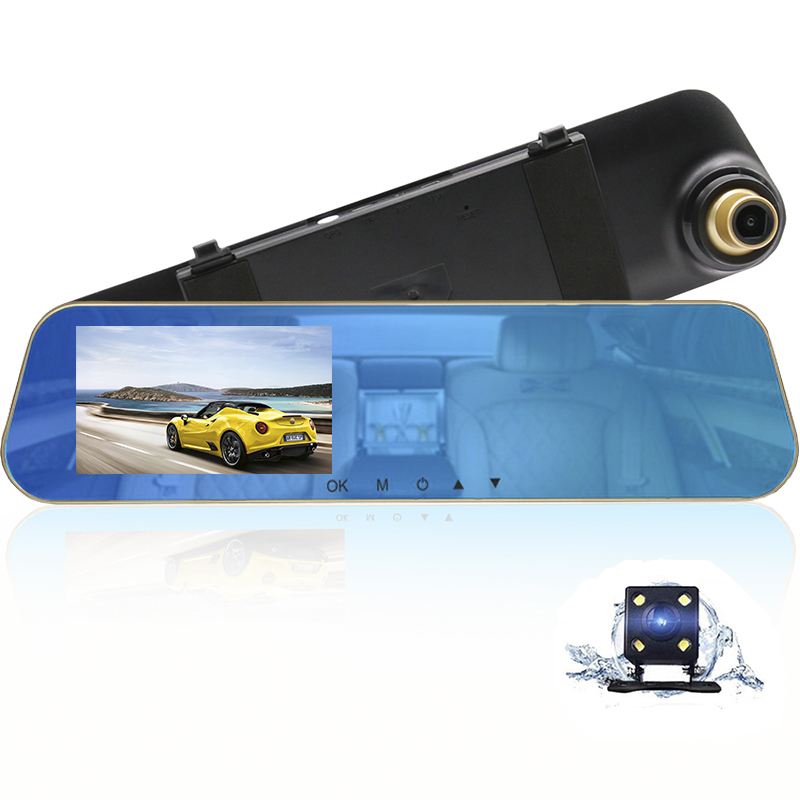 HGDO Cams Video-Camera Car-Recorder Rear-View-Mirror-Dvr''dual-Lens Autoregister Full-Hd