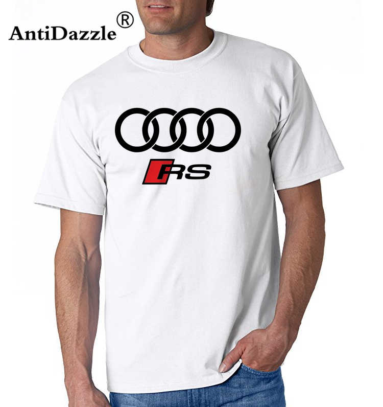 Antidazzle letters print mannen Tee shirts mode katoenen T-shirt RS RS3 RS4 RS5 RS6 RS7 Logo Sporter Rally Auto Katoen t-shirt