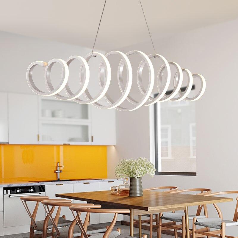 все цены на Minimalism DIY Hanging Modern Led Pendant Lights For Dining Room Bar suspension luminaire suspendu Pendant Lamp Lighting Fixture