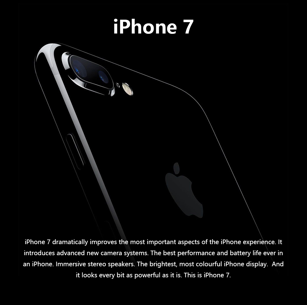 Unlocked Original Apple iPhone 7 32G/128G/256G Rom Quad-core Mobile phone 12.0MP Camera IOS 1960mA Fingerprint Smart Phone Whole 17
