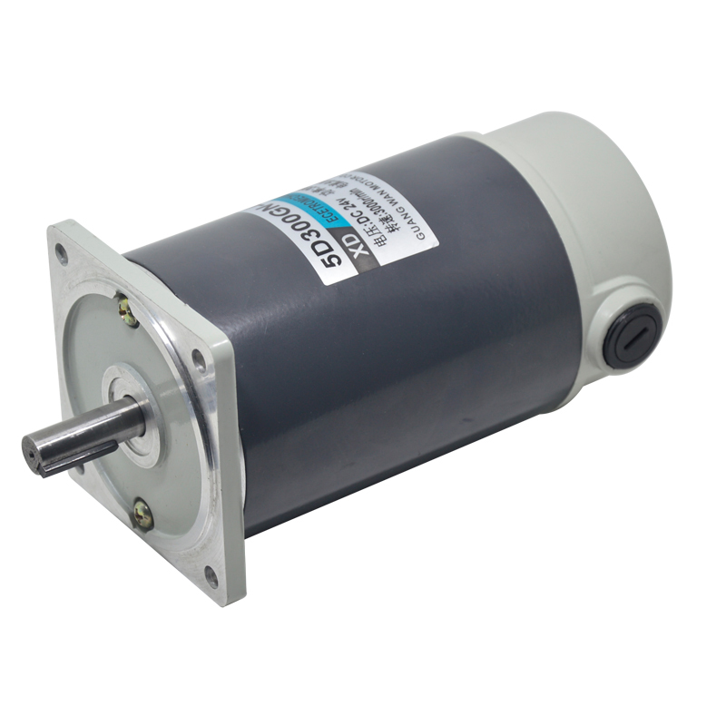 300W DC high speed motor, 5D300GN-C 12/24V speed motor, high torque CW/CCW 3000RPM brushed electric motor digital dc motor pwm speed control switch governor 12 24v 5a high efficiency