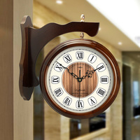 Meijswxj Large Wall Clock Saat Reloj Wood Clock Relogio de parede Duvar Saati Watch Horloge Murale living room Wall clocks Klok