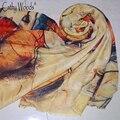2016 Outono e Inverno Novo Estilo de Graffiti Imitação Cachecol de Caxemira Elegante Impressão Wmen Macio Música Símbolo Envoltório Xales lenços