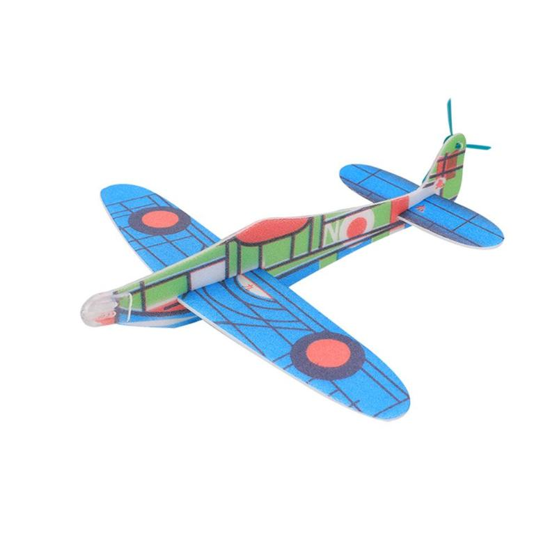 1PC Random Color DIY Airplane Toy Hand Launch Throwing Glider Aircraft Inertial Foam DIY Children Plane Model Outdoor Fun Toys