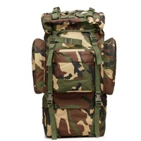 65L Large Capacity ManTactical Travel Backpack Outdoors Camping Hiking Bag For Mountaineers Rain Cover Metal Frame