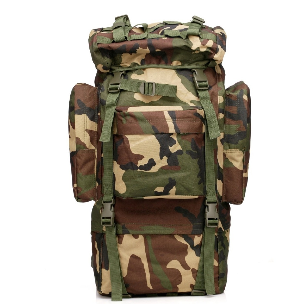 Large Capacity 65L Man Tactical Travel Back pack Outdoors Camping Hiking Bag for Mountaineer Rain Cover Metal Frame Climbing Bag large capacity 65l men women outdoor camping tactical travel backpack hiking bag mountaineer rain cover metal frame back pack